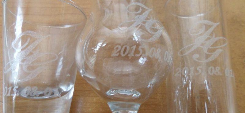 Pálinkás üveg gravírozás